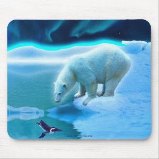 Alfombrilla De Ratón Oso polar y arte ártico Mousepad de la fauna del