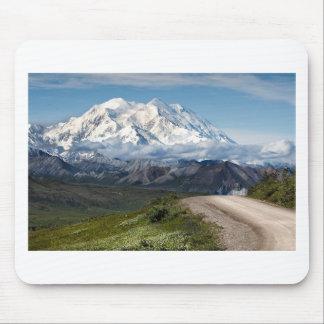 Alfombrilla De Ratón Paisaje blanco de Alaska de las montañas