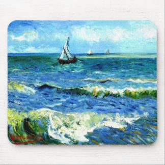 Alfombrilla De Ratón Paisaje marino en Saintes-Maries, Vincent van Gogh