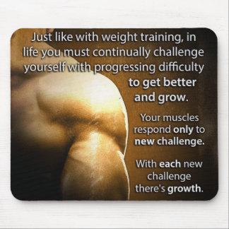 Alfombrilla De Ratón Palabras de motivación del entrenamiento - desafío