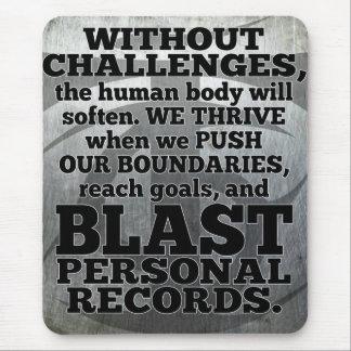 Alfombrilla De Ratón Palabras inspiradas del entrenamiento - desafíos y