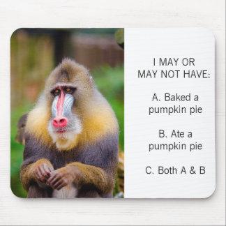Alfombrilla De Ratón Pastel de calabaza divertido Meme de la foto