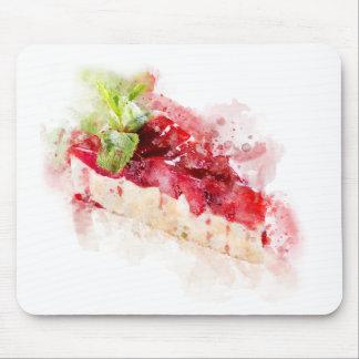 Alfombrilla De Ratón Pastel de queso de la acuarela