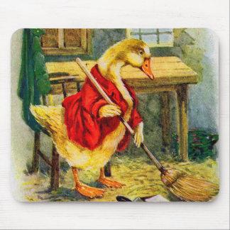 Alfombrilla De Ratón pato de los años 30 que barre el piso