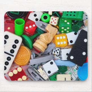Alfombrilla De Ratón Pedazos diversos del juego en un cojín de ratón