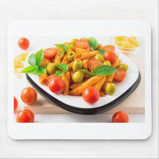 Alfombrilla De Ratón Penne italiano de las pastas en salsa de tomate