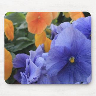 Alfombrilla De Ratón Pensamientos púrpuras y anaranjados con la foto