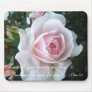 Alfombrilla De Ratón Pequeño color de rosa rosado delicado