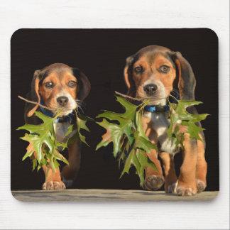 Alfombrilla De Ratón Perritos juguetones de los hermanos del beagle