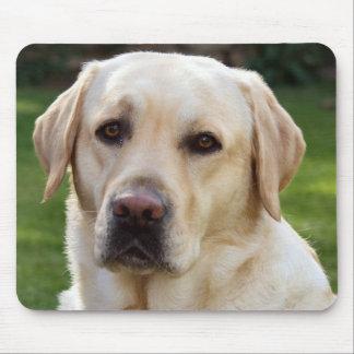Alfombrilla De Ratón Perro de perrito amarillo del labrador retriever -