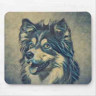 Alfombrilla De Ratón Perro pastor de Shetland que pinta Mousepad