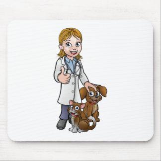 Alfombrilla De Ratón Personaje de dibujos animados del veterinario con
