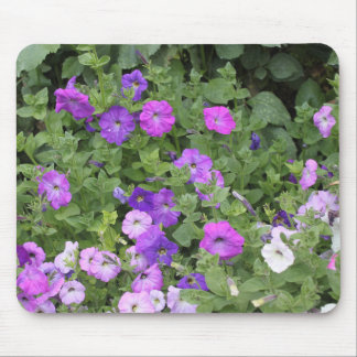 Alfombrilla De Ratón Petunia púrpura del tema del jardín de la