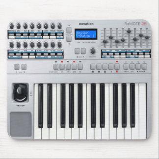 Alfombrilla De Ratón Piano eléctrico Mousepad, amante de la música