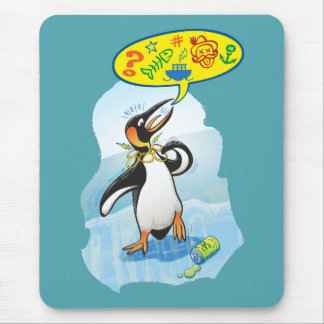 Alfombrilla De Ratón Pingüino de rey desesperado que dice malas