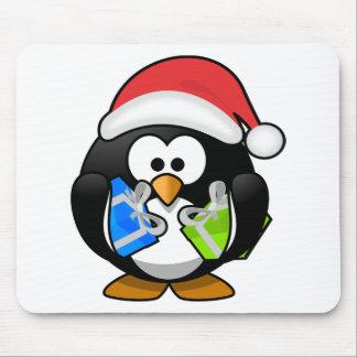 Alfombrilla De Ratón Pingüino del navidad