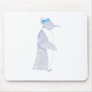 Alfombrilla De Ratón Pingüino en un gorra de lujo