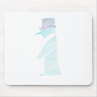 Alfombrilla De Ratón Pingüino en un sombrero de copa
