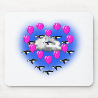 Alfombrilla De Ratón pingüinos de las tarjetas del día de San Valentín,