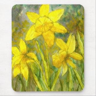 Alfombrilla De Ratón Pintura de la acuarela, arte amarillo de las
