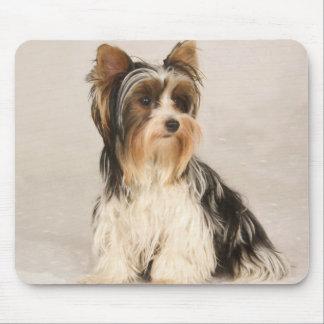 Alfombrilla De Ratón Pintura de Srta. Mia Photo de Yorkie del retrato