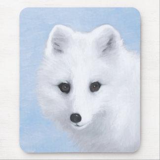 Alfombrilla De Ratón Pintura del Fox ártico - arte original de la fauna