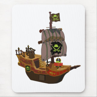 Alfombrilla De Ratón Pirata Andy en una nave
