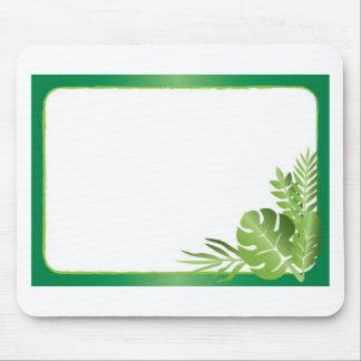 Alfombrilla De Ratón Plantilla en blanco de las hojas tropicales verdes