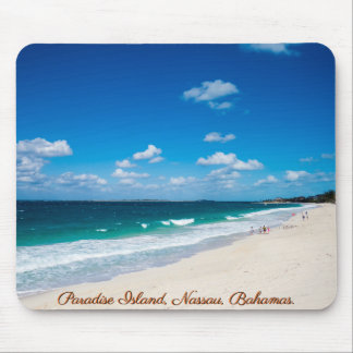 Alfombrilla De Ratón Playa de la isla del paraíso, Nassau, Bahamas el  