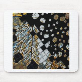 Alfombrilla De Ratón Plumas abstractas cubicadas