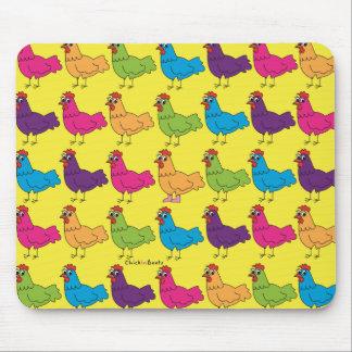 Alfombrilla De Ratón Pollos coloridos Mousepad