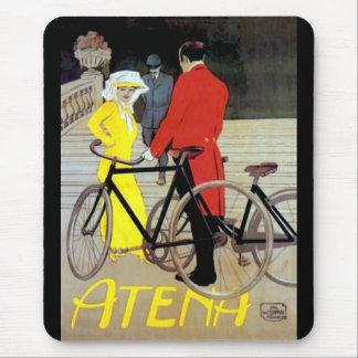 Alfombrilla De Ratón Poster de la bici del vintage