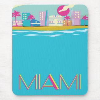 Alfombrilla De Ratón Poster del viaje de Miami de los años 80 del
