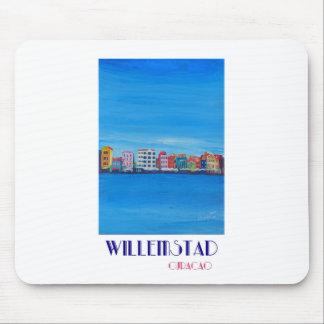 Alfombrilla De Ratón Poster retro Willemstad Curaçao