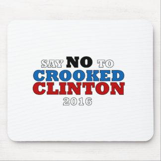 Alfombrilla De Ratón Presidente torcido Funny 2016 de Hillary Clinton