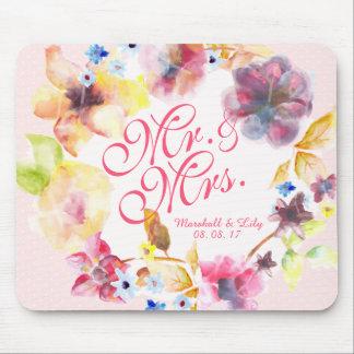 Alfombrilla De Ratón Primavera floral personalizada que casa el  