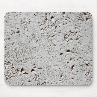 Alfombrilla De Ratón Primer fósil de la superficie de la teja del