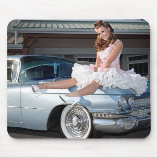 Alfombrilla De Ratón Princesa 1959 de Cadillac del carrito Pin Up Car