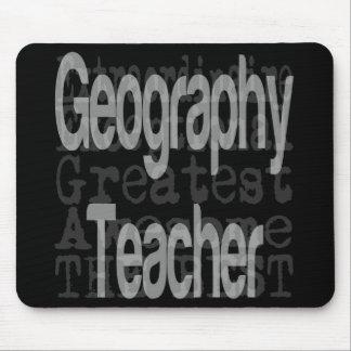 Alfombrilla De Ratón Profesor de la geografía Extraordinaire
