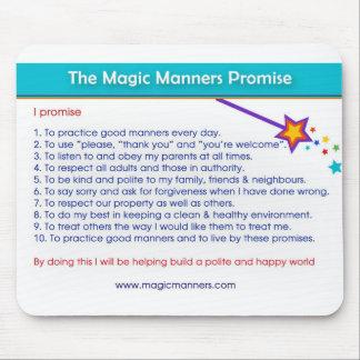 Alfombrilla De Ratón Promesa mágica Mousepad de las maneras