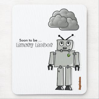Alfombrilla De Ratón Pronto para ser robot oxidado