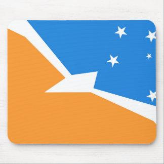 Alfombrilla De Ratón Provincia de la tierra del fuego de la bandera de
