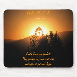 Alfombrilla De Ratón Psalm19: 7, las 8 leyes de dios son perfectos