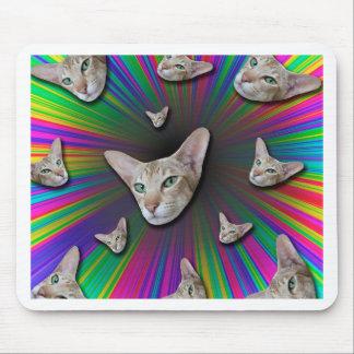 Alfombrilla De Ratón Psychedelic Tye Die Cat