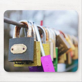 Alfombrilla De Ratón Puente de la cerradura del amor