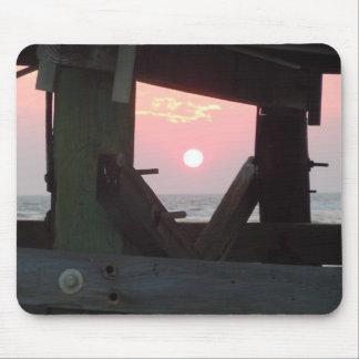 Alfombrilla De Ratón Puesta del sol a través del embarcadero - isla del