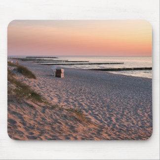 Alfombrilla De Ratón Puesta del sol de la playa de Ahrenshoop