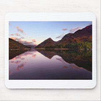 Alfombrilla De Ratón Puesta del sol en el lago Leven, Escocia