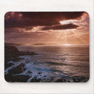 Alfombrilla De Ratón Puesta del sol escocesa, costa del norte de