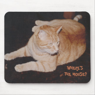 Alfombrilla De Ratón Ratón que espera Mousepad del gato de tigre para